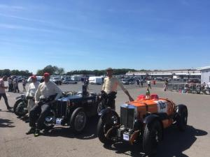 MG Triple M Racing. Donington Historic Festival. One, two, three for Team MG. Thijs de Groot, Mark Dolton, Mark Reece.